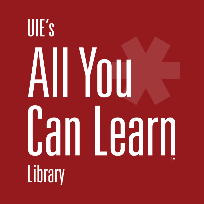 welcome uie s all you can learn library